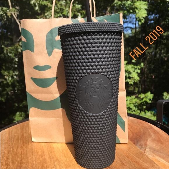 Starbucks Matte Black Studded Tumbler Cup New Sku Nwt